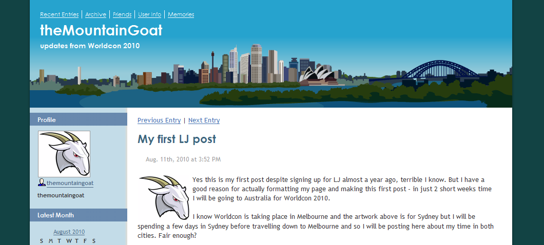 theMountainGoat on Livejournal